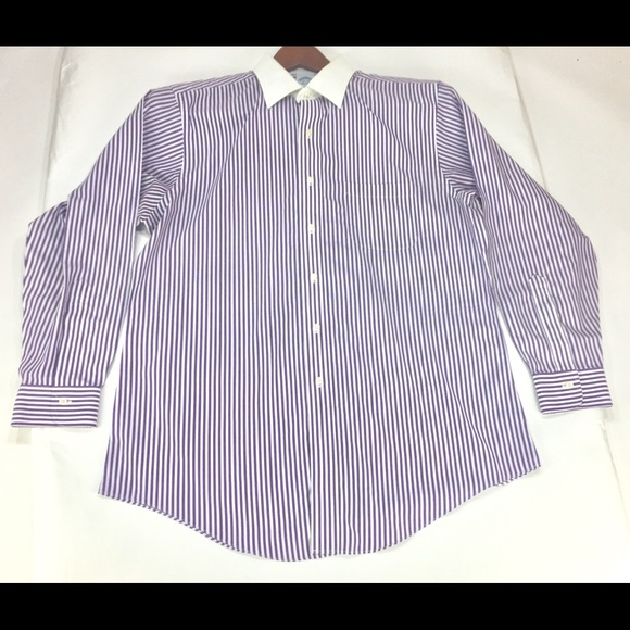 Brooks Brothers Other - Brooks Brothers 1818 Purple Pinstripe Shirt 16.5